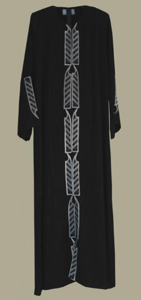 Al Karam Embroidered Pull Over Abaya ab349