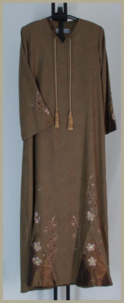 Al Karam Embroidered Pull Over Abaya ab350