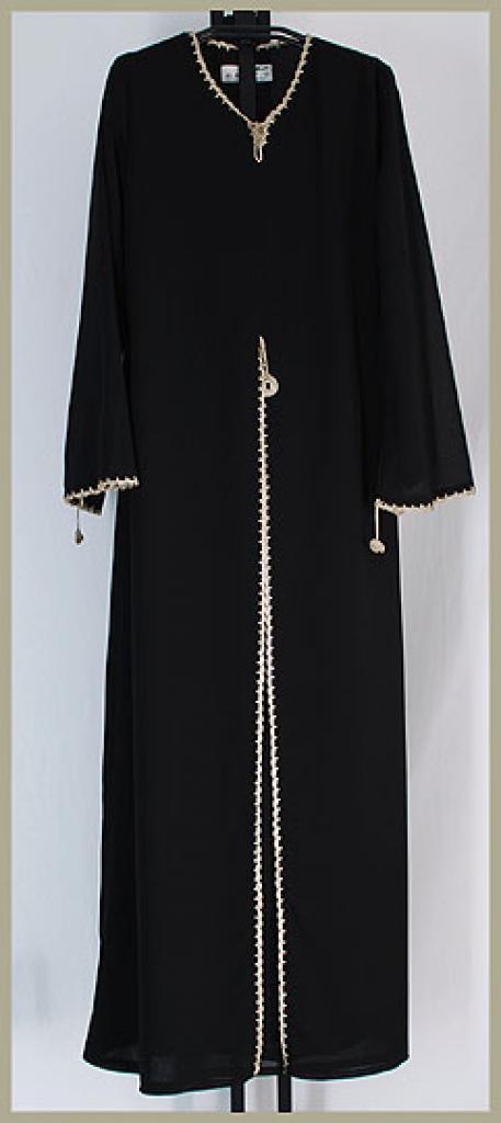 Al Karam Embroidered Pull Over Abaya ab351