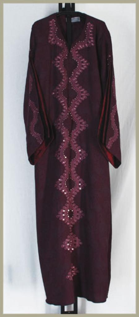 Al Karam Embroidered Pull Over Abaya ab353