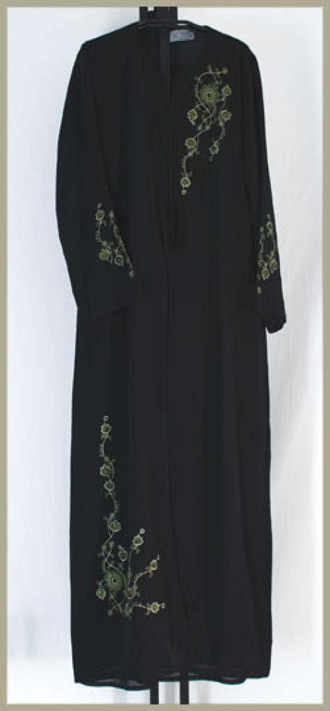 Al Karam Embroidered Pull Over Abaya ab354