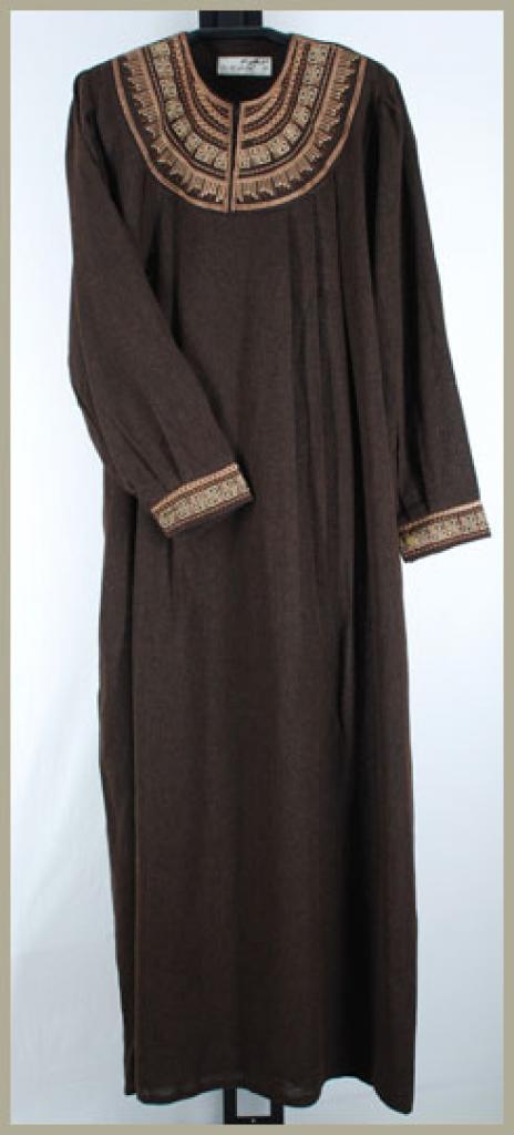 Al Karam Embroidered Pull Over Abaya ab358