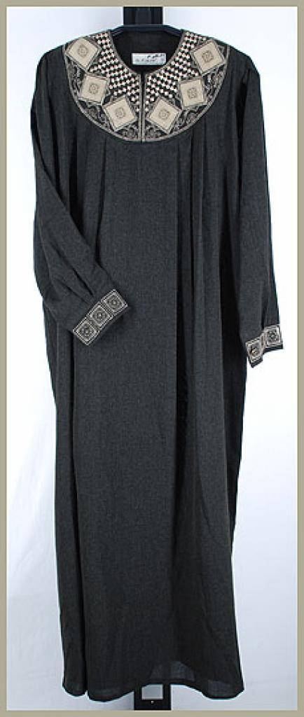 Al Karam Embroidered Pull Over Abaya ab359