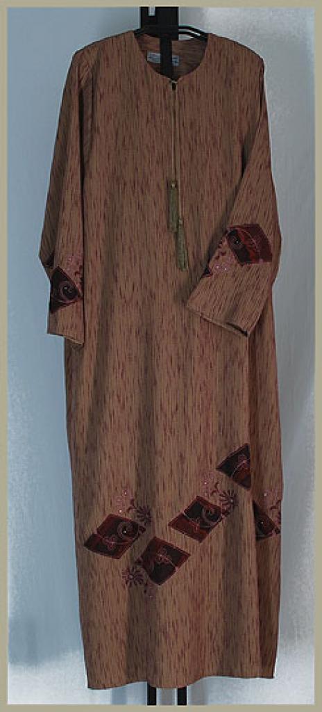 Al Karam Embroidered Pull Over Abaya ab360