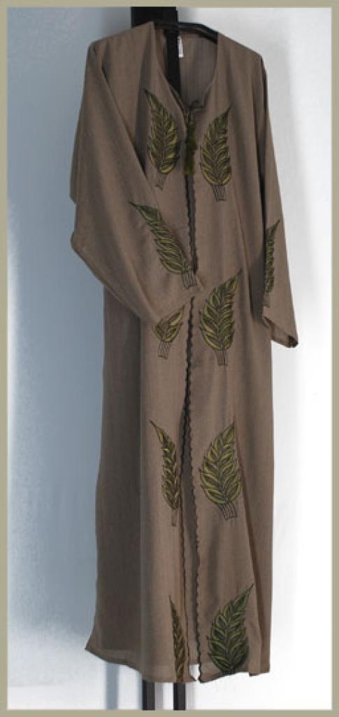 Khalije style pull over abaya ab361