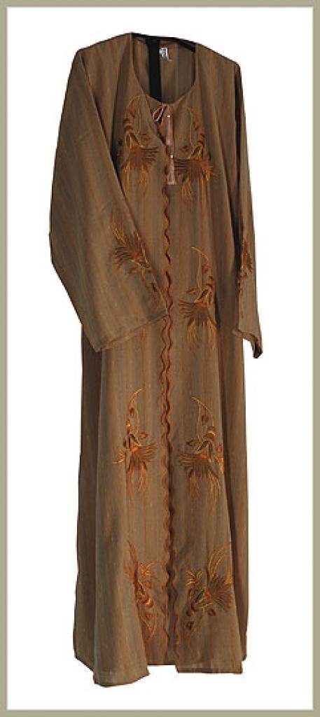Khalije style pull over abaya ab363