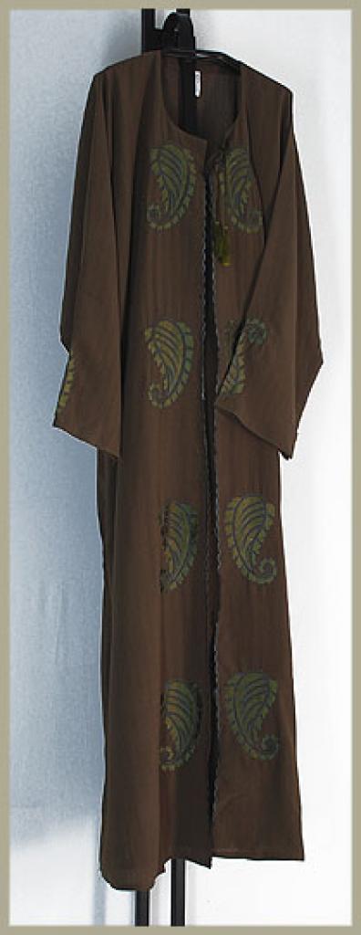 Khalije style pull over abaya ab364