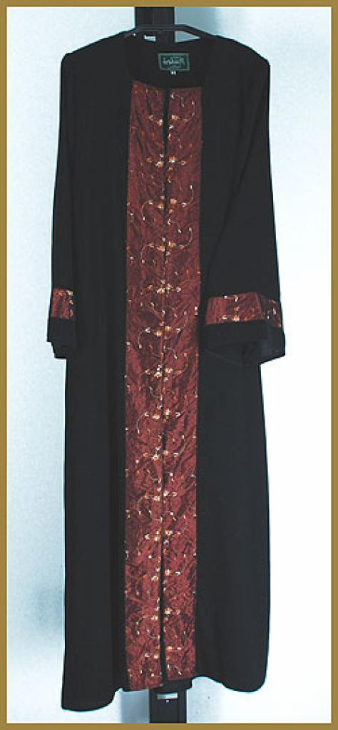 Embroidered  Pull-Over Abaya ab377