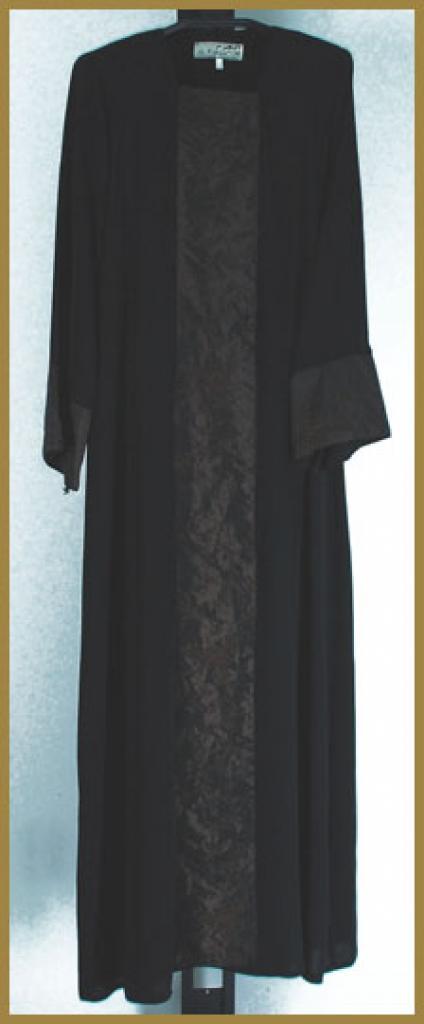 Embroidered  Coat-style Abaya ab378