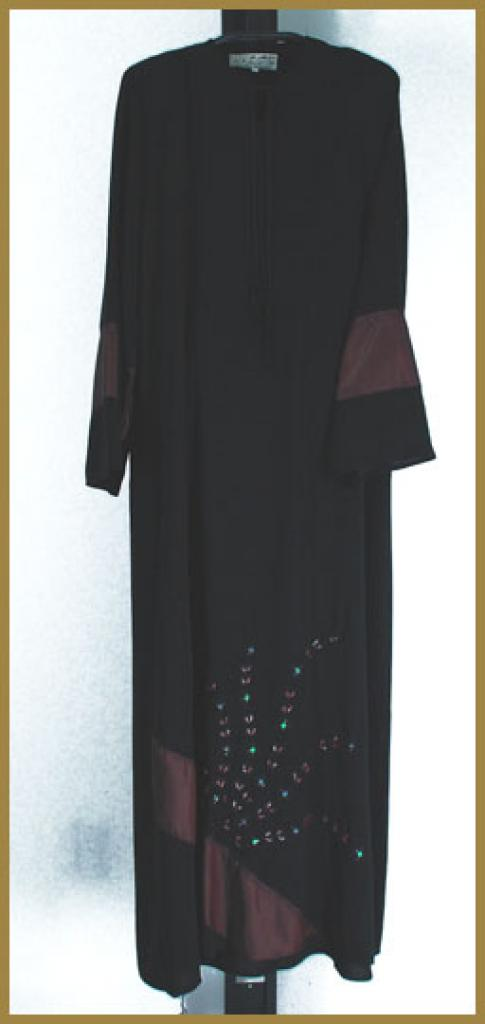 Embroidered  Pull-Over Abaya ab379