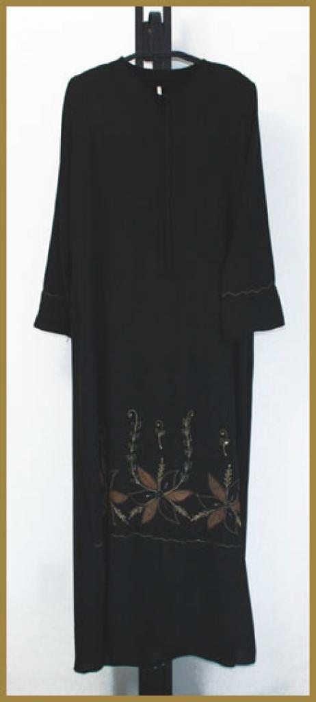Embroidered  Pull-Over Abaya ab380