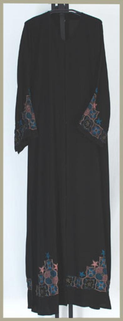 Embroidered Saudi Pull-Over Abaya ab381