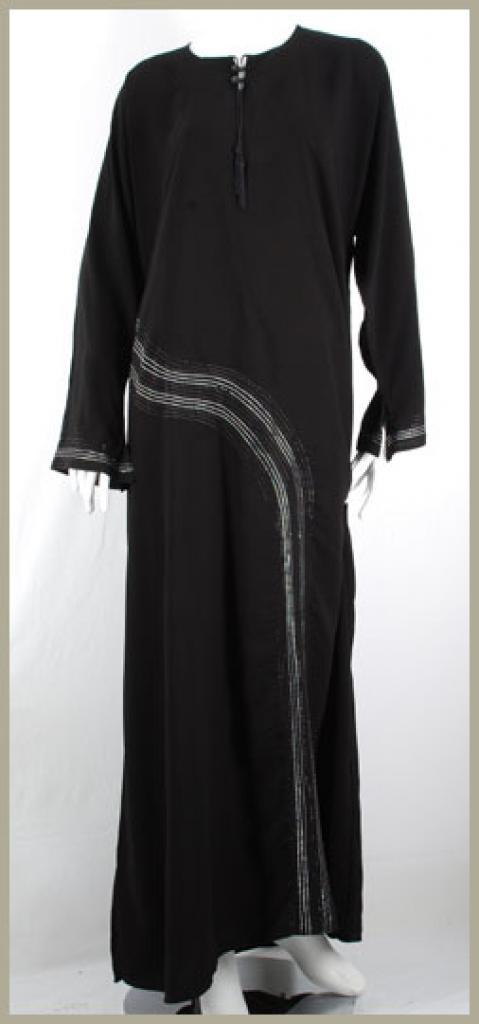 Embroidered Saudi Pull-Over Abaya ab384