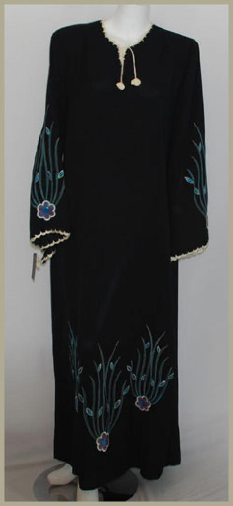 Embroidered Pull-Over Abaya ab385