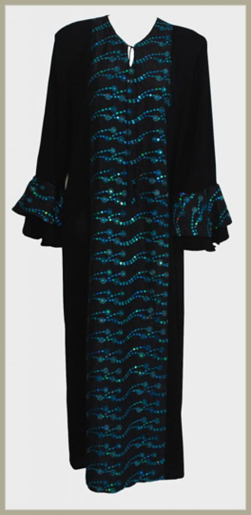 Embroidered Pull-Over Abaya ab386