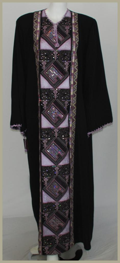 Embroidered Pull-Over Abaya ab387