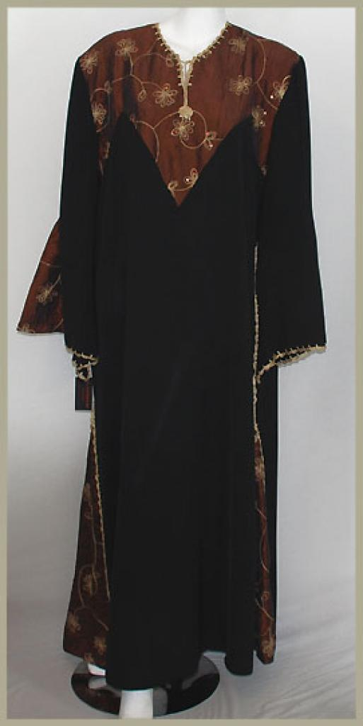 Embroidered Pull-Over Abaya ab388