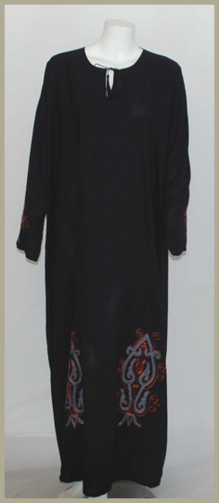 Embroidered Saudi Pull-Over Abaya ab392