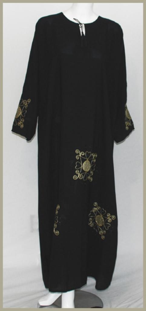 Embroidered Saudi Pull-Over Abaya ab395