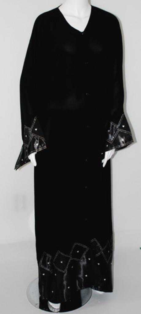 Embroidered Coat-style Abaya ab396