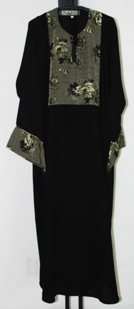 Khaliji Pull Over Abaya with embroidery ab399