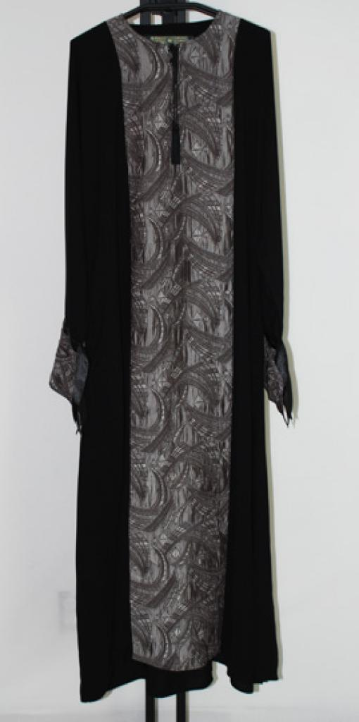 Khaliji Pull Over Abaya with embroidery ab400