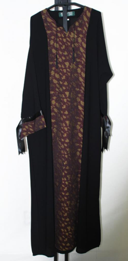 Khaliji Pull Over Abaya with embroidery  ab402