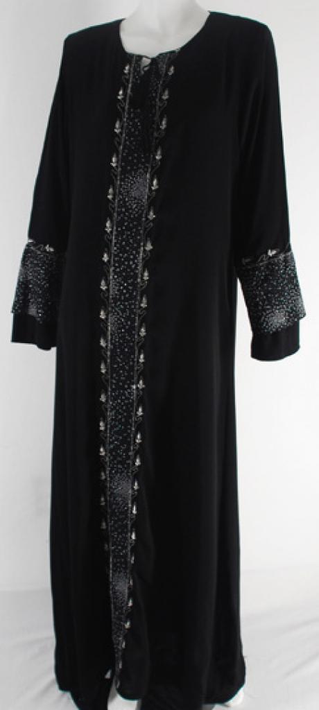 Al Karam Embroidered Pull Over Abaya  ab406