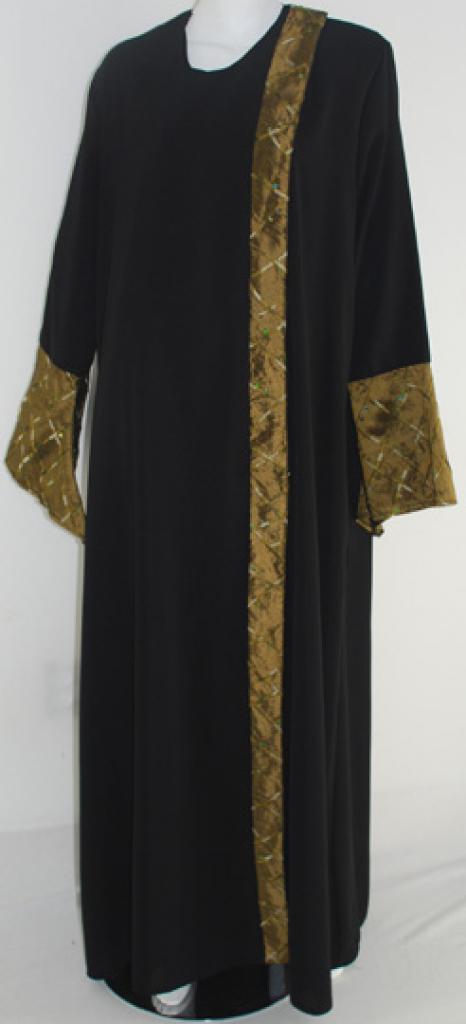 Al Karam Embroidered Shoulder-close Abaya  ab407