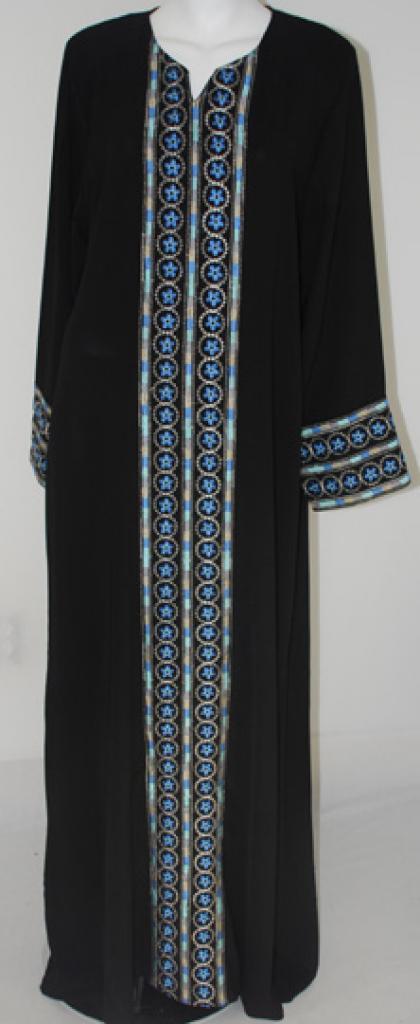Al Karam Embroidered Pull Over Abaya  ab408