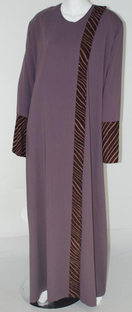 Al Karam Embroidered Shoulder-close Abaya  ab409
