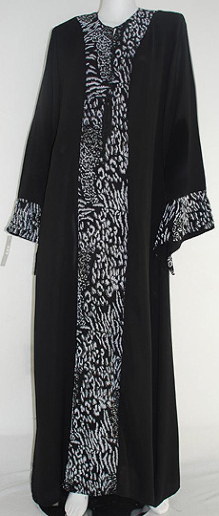 Al Karam Embroidered Pull Over Abaya   ab410