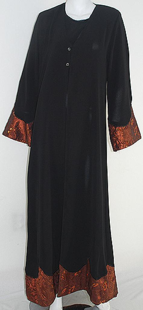 Al Karam Embroidered Pull Over Abaya  ab411