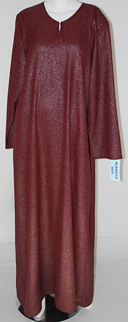 Al Karam Embroidered Pull Over Abaya  ab412