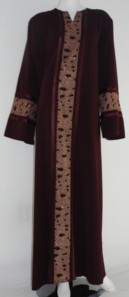Al Karam Embroidered Pull Over Abaya  ab413