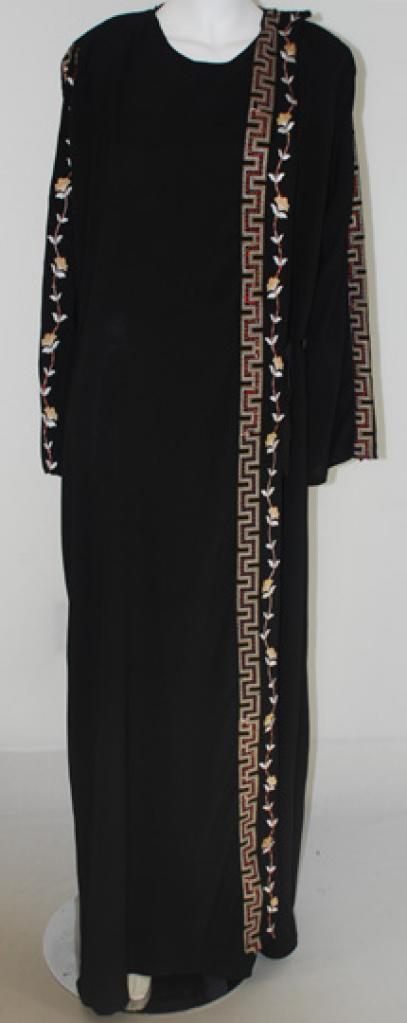 Al Karam Embroidered Shoulder-close Abaya  ab416
