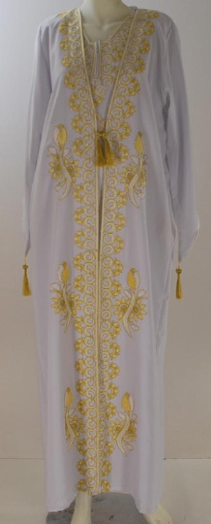 Embroidered  Islamic Wedding Dress with Matching Abaya  ab419