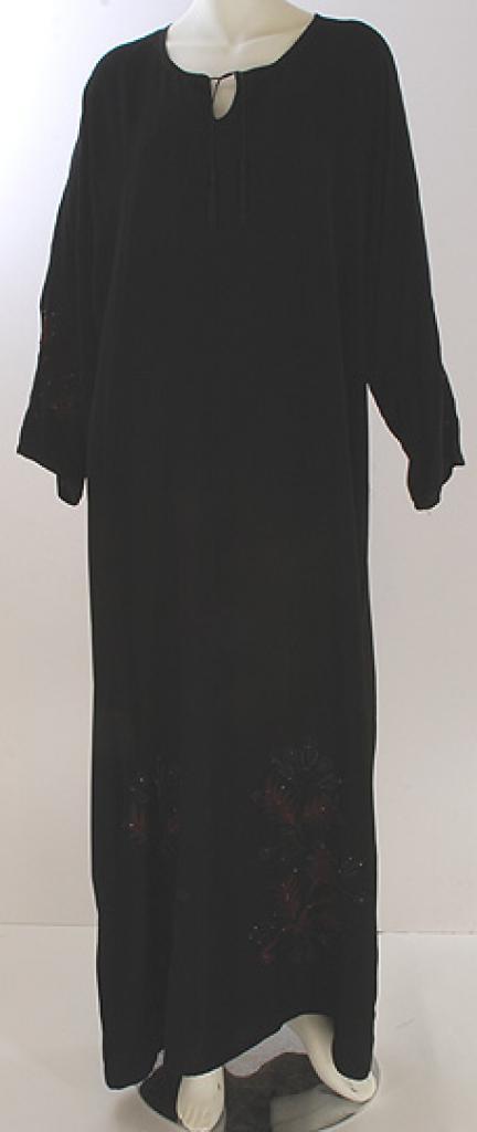Floral Embroidered Saudi Pull-Over Abaya  ab421