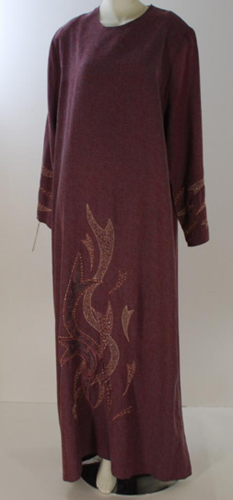 Al Karam Embroidered Ribbons Abaya  ab422