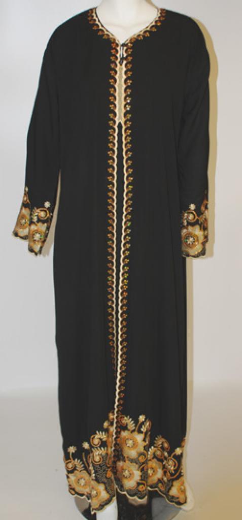 Mina Sequined Embroidered Abaya  ab429