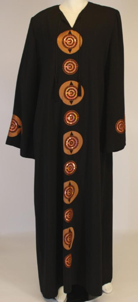 Al Karam Spiral Sequins Abaya  ab430