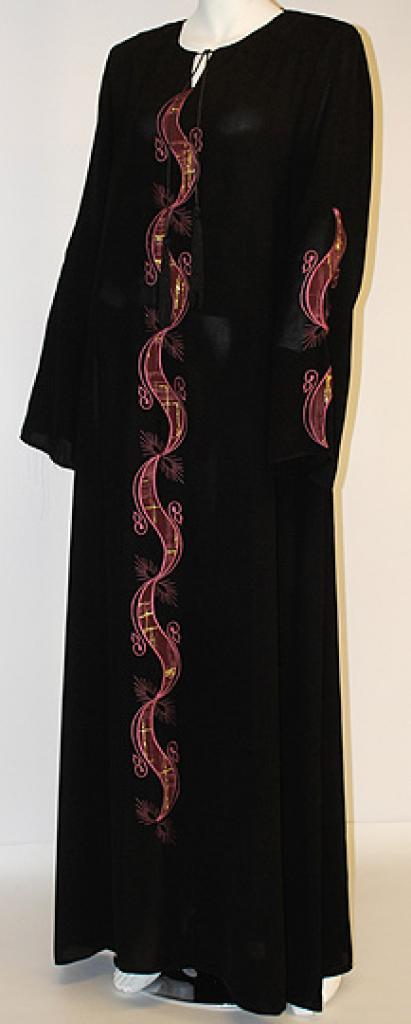 Hayyal Embroidered Abaya ab433