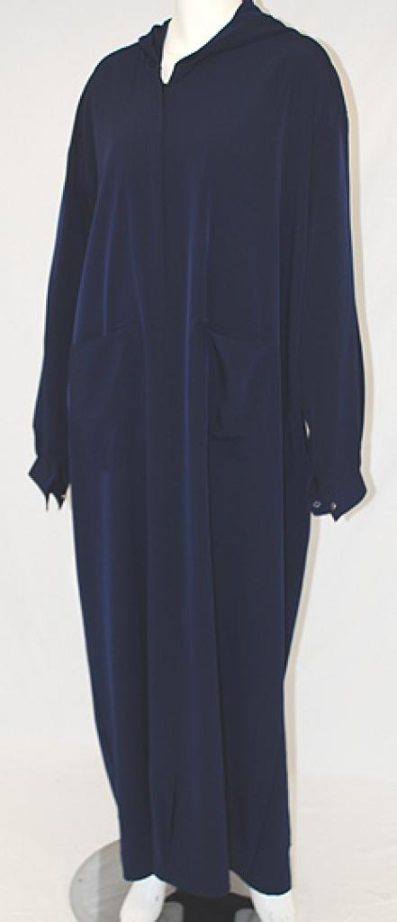Solid Color Pull Over Hooded Abaya ab454