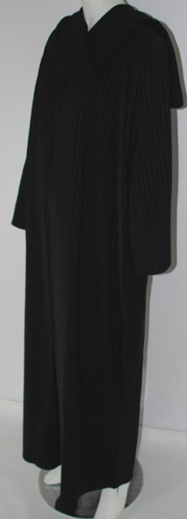 Pinstripe Detail Coat-style Abaya ab458