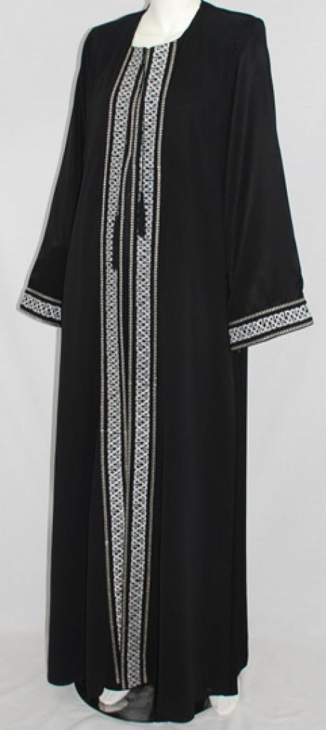 Al Karam Manar Embroidered Abaya  ab462