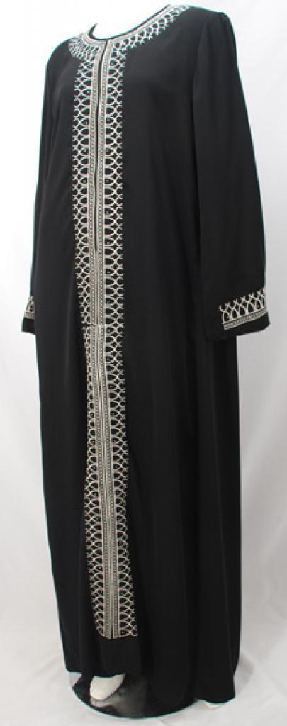 Al Karam Salihah Embroidered Abaya ab466