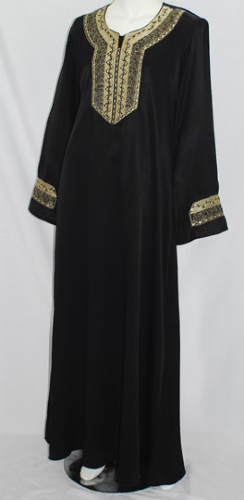 Al Karam Huda Embroidered Abaya  ab470