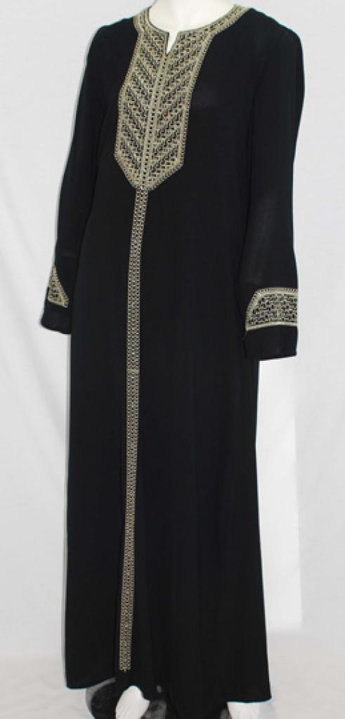 Al Karam Raniyah Embroidered Abaya  ab474