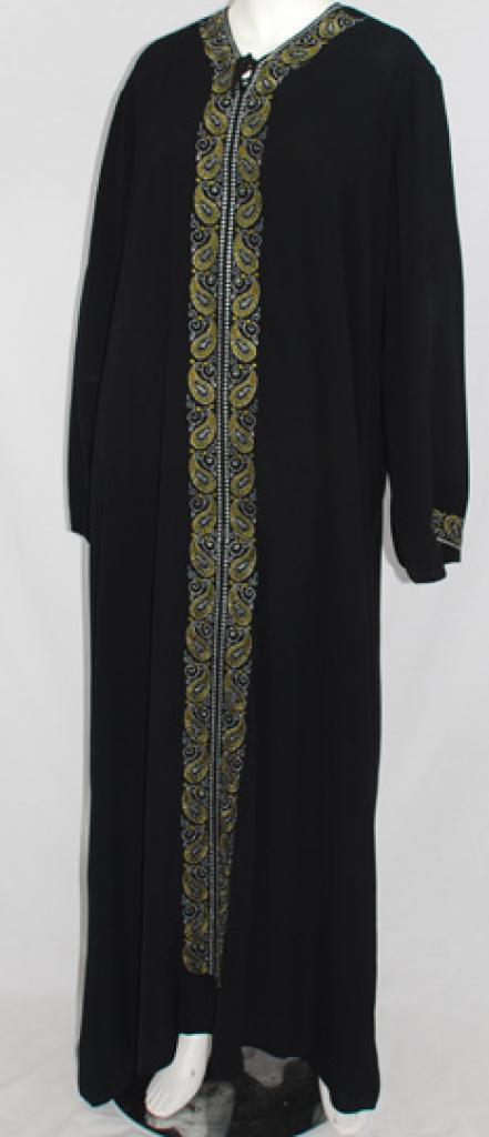 Al Karam Nahlah Embroidered Abaya  ab475