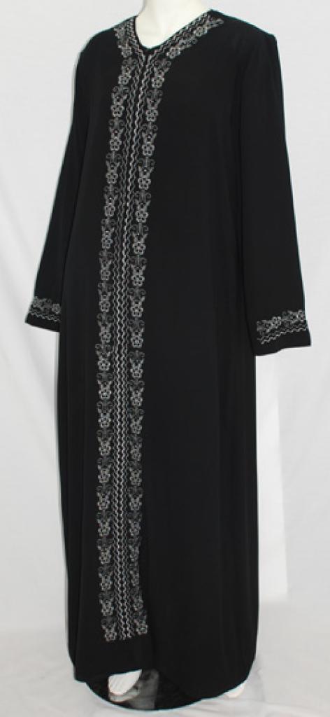 Al Karam Salma Embroidered Abaya  ab476